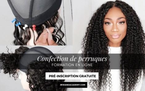 Formation en ligne de confection de perruques – Pré-inscription gratuite