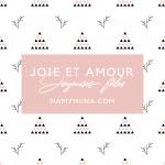 Joie et Amour…